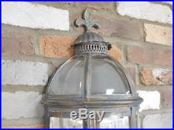 Set Of 2 Antique Vintage Wall Lantern Sconce Mirrored ...