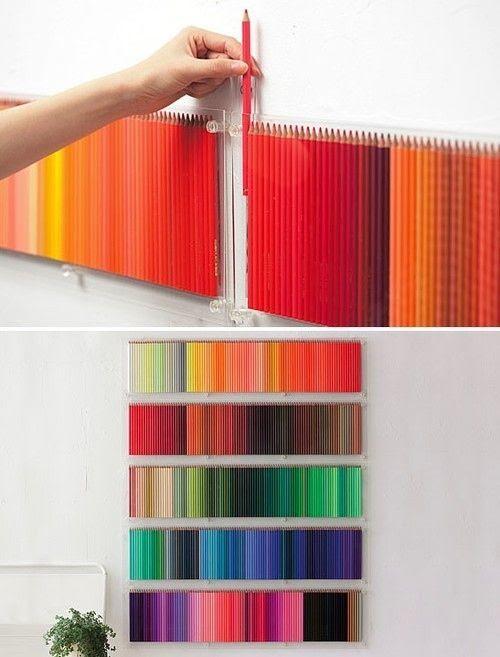 Colored pencil art using the pencil
