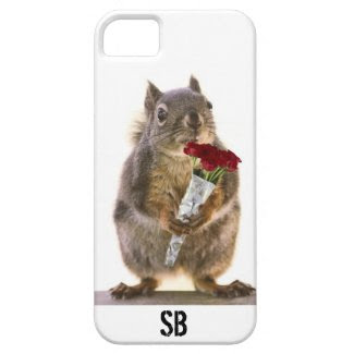 Squirrel Holding Red Rose Bouquet iPhone 5 Case