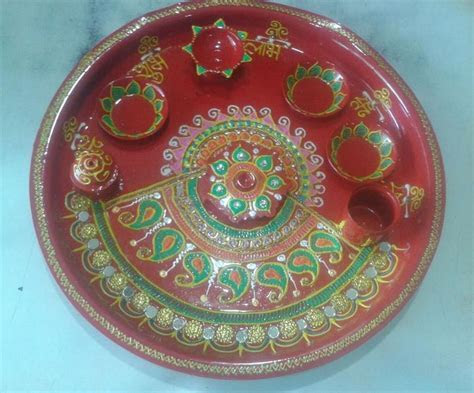 Pooja Ki Thali Decoration for Diwali   Pooja Thali   Aarti