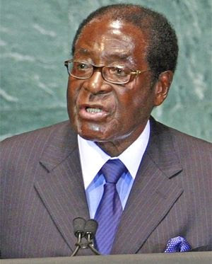 Zimbabwe President Robert Mugabe addressing the United Nations General Assembly on September 21, 2011. He said that the ICC was letting the US and other European states run free after performing crimes. by Pan-African News Wire File Photos