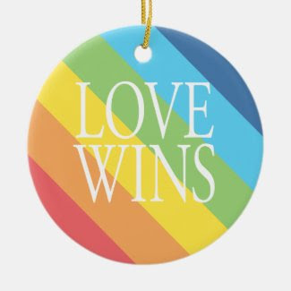 Love Wins Ornament