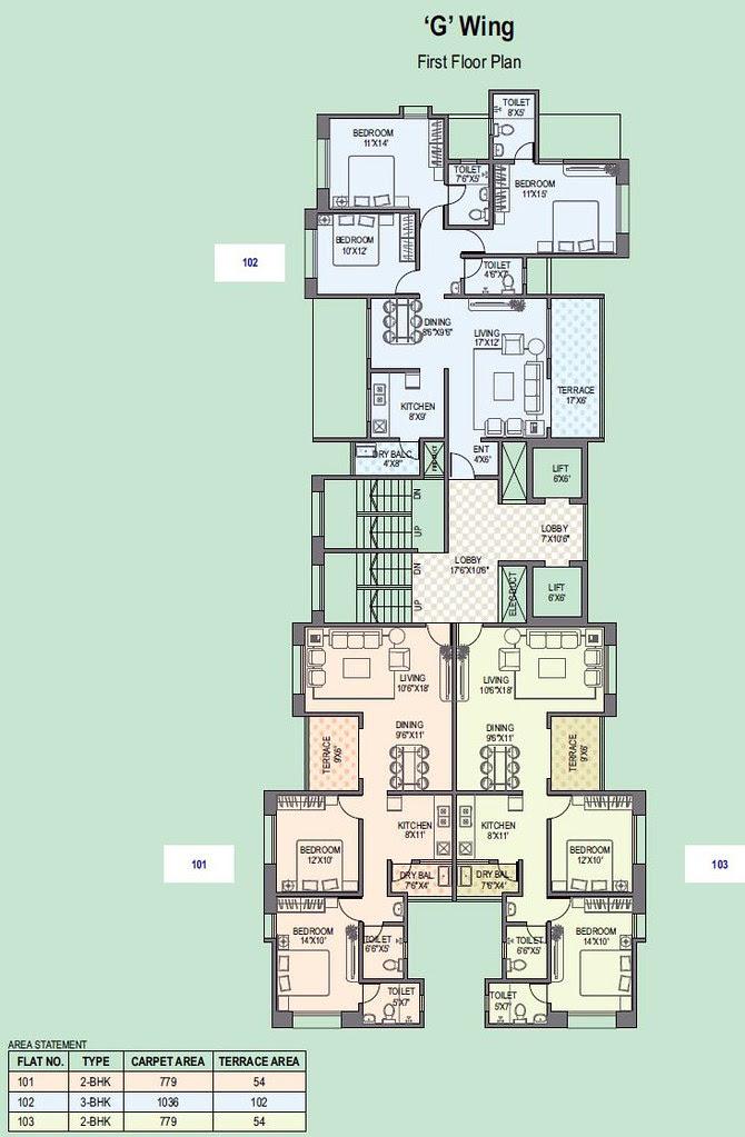 Paranjape Schemes' Gloria Grace Bavdhan Pune - G Wing - 1st Floor