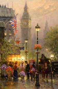 G. Harvey - Old London - Christ-Centered Art