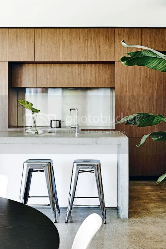 ETC INSPIRATION BLOG LIGHT MODERN MELBOURNE AUSTRALIA HOME MID CENTURY MODERN WOOD CABINETS KITCHEN METAL STOOLS CEMENT FLOORS PALM PLANTS 2 photo ETCINSPIRATIONBLOGLIGHTMODERNMELBOURNEAUSTRALIAHOME2.jpg