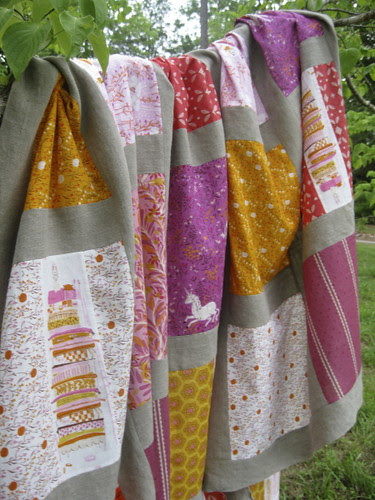 Fairytale Quilt Over a branch