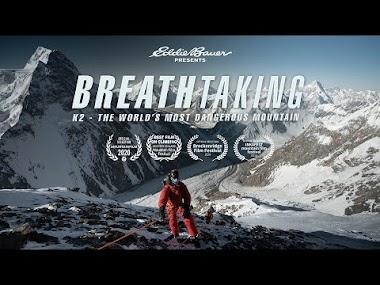 """Eddie Bauer, Adrian Ballinger y Carla Pérez en el K2, sin oxígeno… ¡y sin aliento! Una brutal película sobre lo que significa intentar """"La Montaña Salvaje""""."""