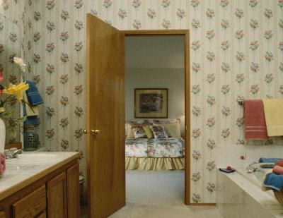 Wider bathroom doors improve access.