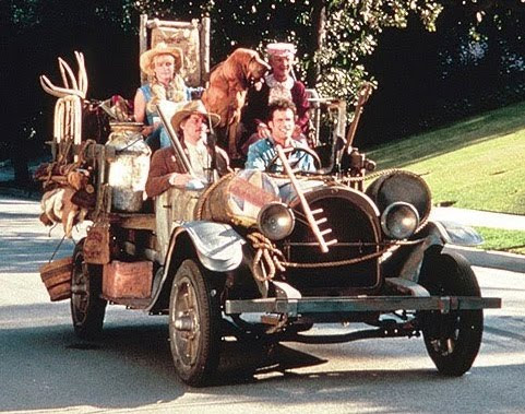 Jim and -- and fam heading out to their country cottage in Harwood!