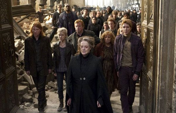 The survivors of Hogwarts prepare to take on Lord Voldemort's forces in HARRY POTTER AND THE DEATHLY HALLOWS, Part 2.