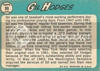#99 Gil Hodges (back)