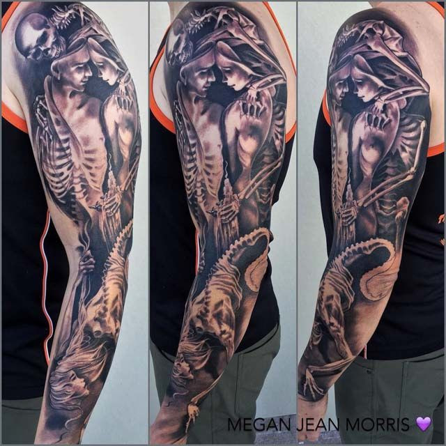 Similiar Death Sleeve Tattoos Keywords
