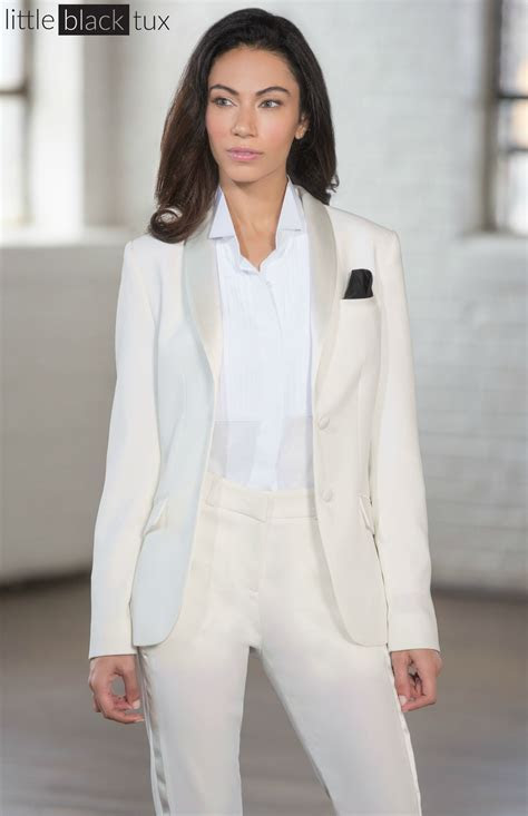 Women's Ivory Diamond White Tuxedo / Ladytux. Shawl Collar