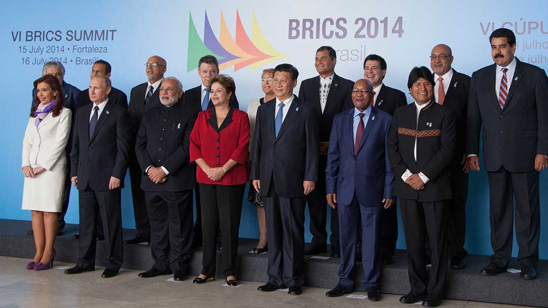 BRICS leaders gathered for Brazil Summit, 2014
