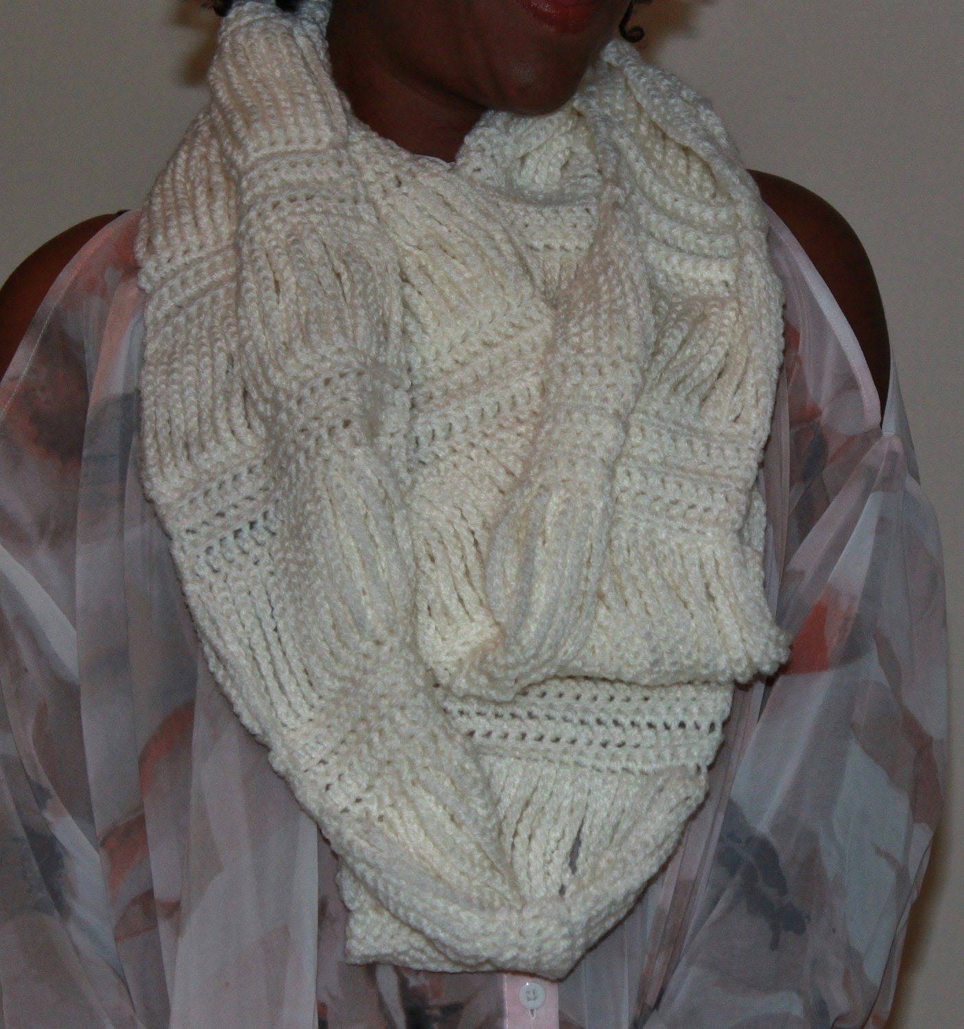 Crochet Chains Infinity Scarf - Made to Order