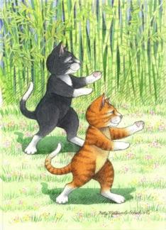 Cats Tai Chi Birthday (Bud & Tony)