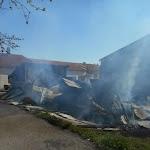 Un bâtiment agricole du château de Prény complètement détruit par le feu