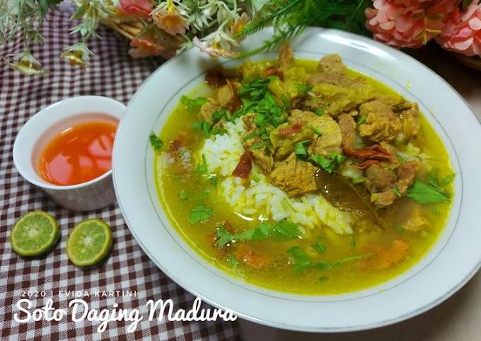 Resep Soto Daging Madura Bikin Nagih