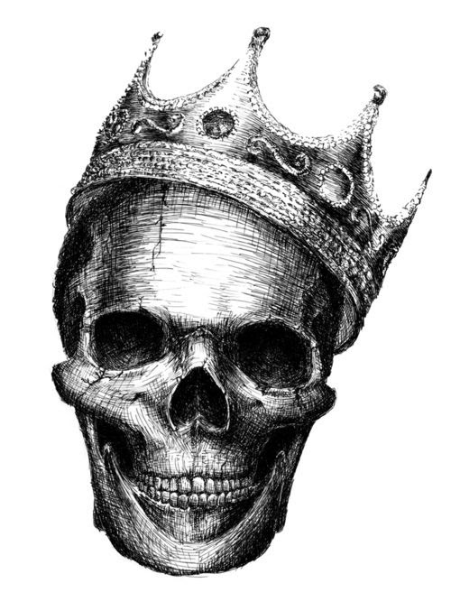 Drawing Of Skull With Crown Tattoo Clipart Library Clip Art