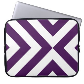 Purple and White Chevrons electronicsbag