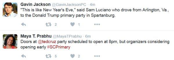 South Carolina primary tweet #2 2-20-16