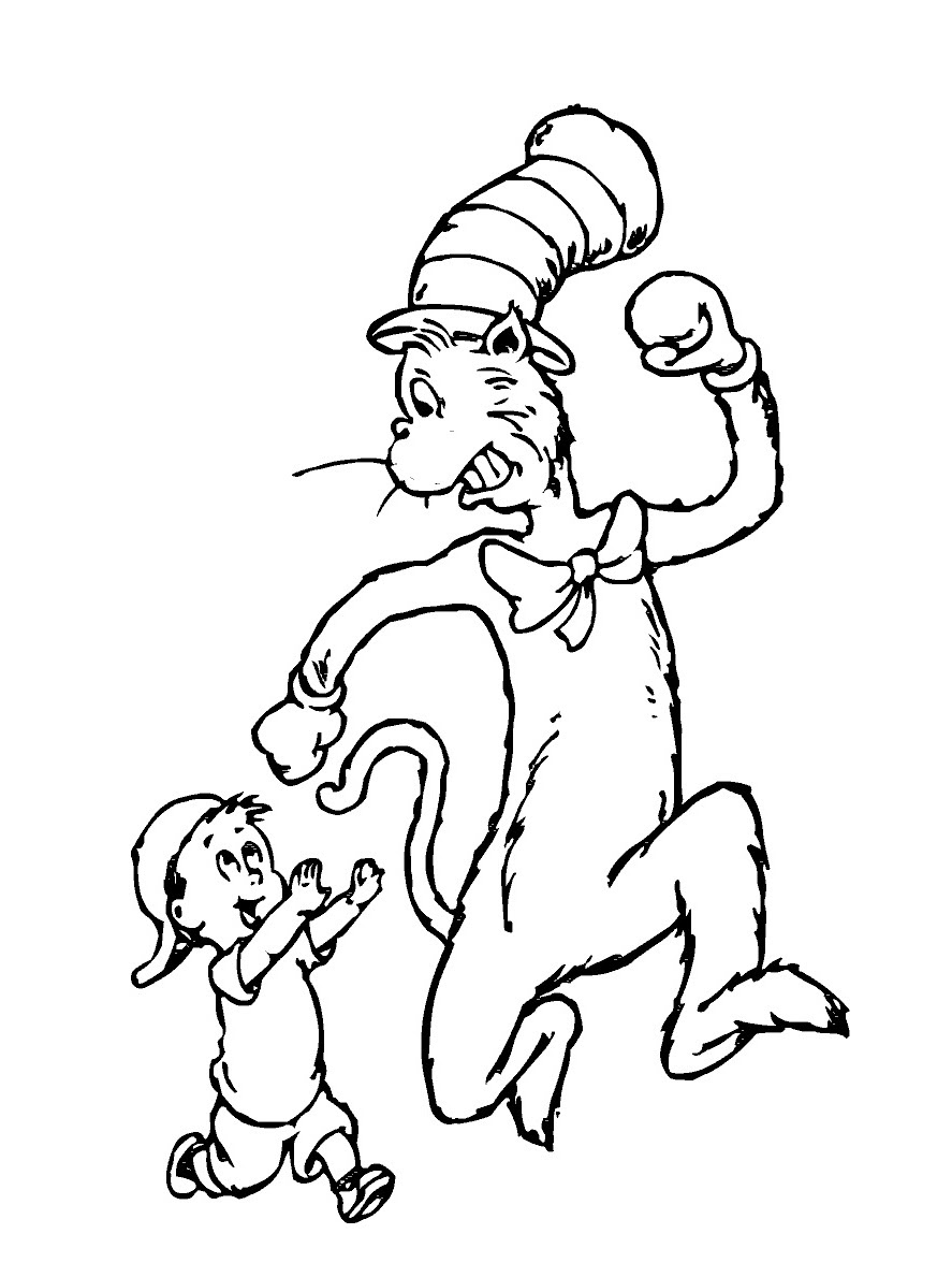 78 Dr Seuss Coloring Pages Cat In The Hat Images & Pictures In HD