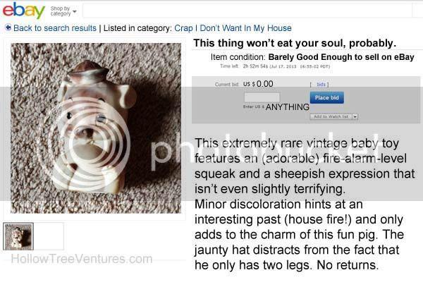 fake ebay listing pig
