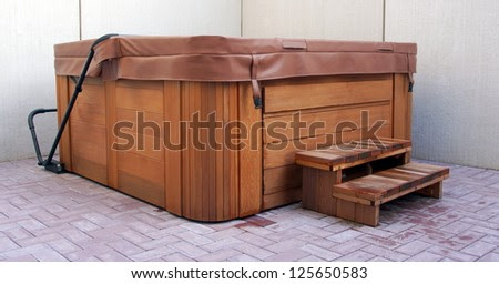 Outdoor Hot Tub / Jacuzzi Stock Photo 125650583 : Shutterstock