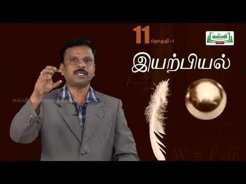 முப்பரிமாணம் Std 11 TM Physics வேலை ஆற்றல் மற்றும் திறன் பகுதி 2 Kalvi TV