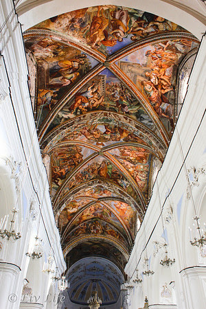 Frescoes in St. Bartholomew, Lipari