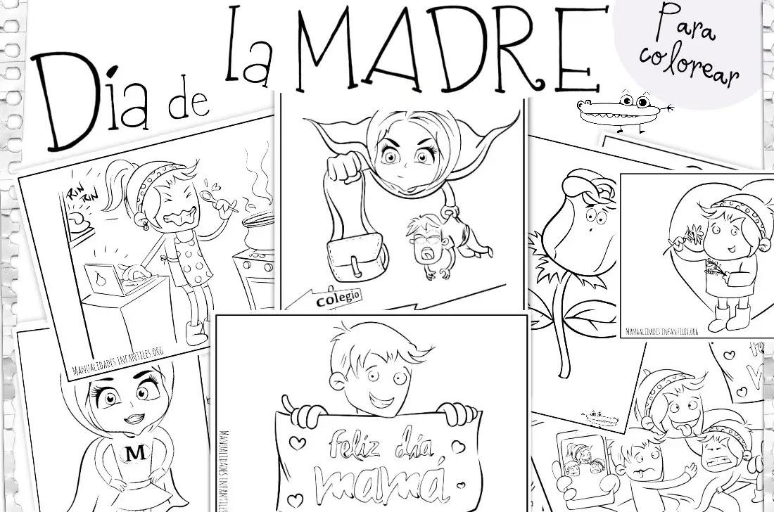 Dibujos Para El Día De La Madre Actividades Para Niños