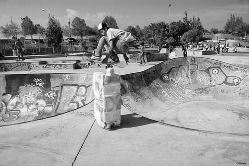 Skate park, Parque de Los Reyes by Alejandro Bonilla