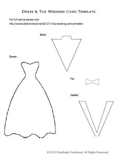 DIY Wedding Card: Dress & Tux Trifold {  Printable   Diy