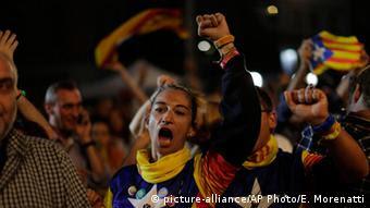 Από τους μετεκλογικούς εορτασμούς στη Βαρκελώνη