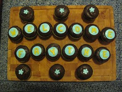 Cupcakes at my welcome party