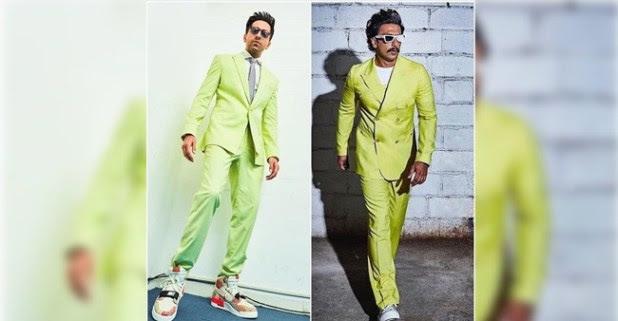 Fashion confrontation: Ayushmann Khurrana, Ranveer Singh wore neon suit and look dapper