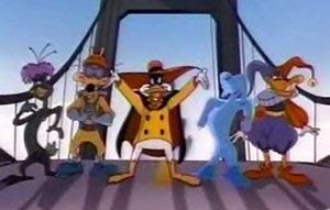 NegaDuck and his evil posse: the Fearsome Five.
