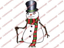 Visible Image Snowman Winter christmas character stamp