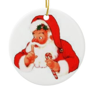 Santa Says Shhhhh... Ornament