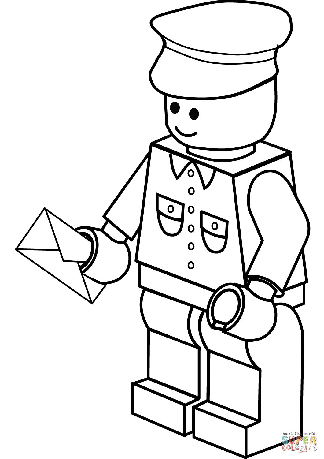 Lego Postman coloring page | Free Printable Coloring Pages