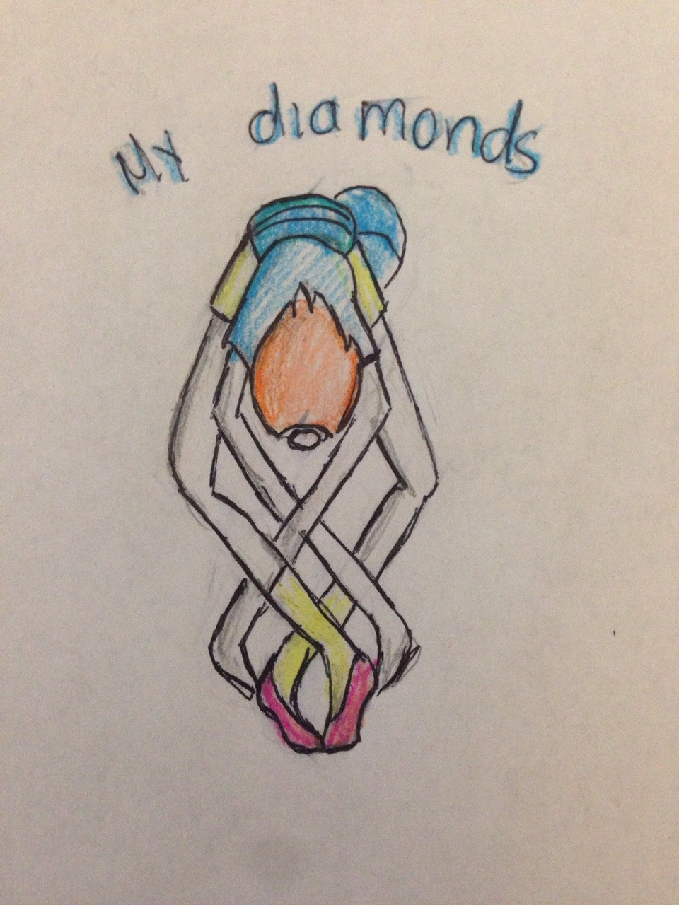 I don't like the theory in which Pearl was the pearl of the four diamonds. Imagine, if Pearl had to do the Diamond Authority Salute, she would be like: I have literally zero regrets