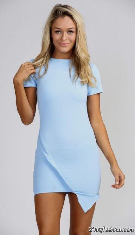 Macy's baby blue bodycon mini dress for juniors