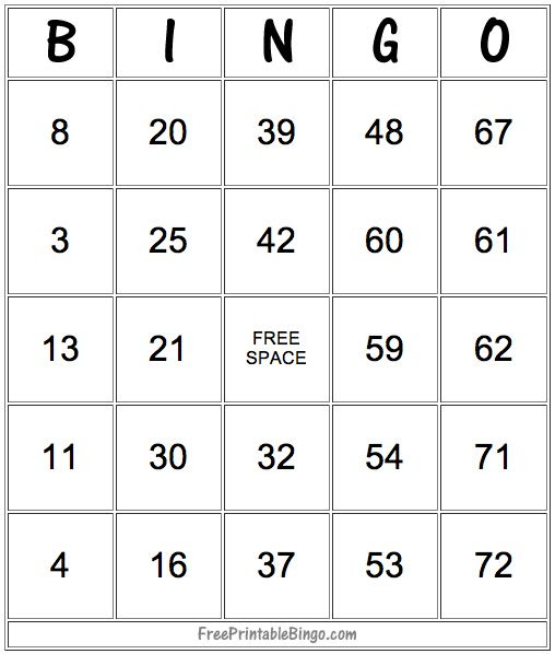 Old Fashioned image within printable number bingo cards