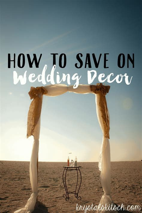 How to Save Money on Wedding Decor