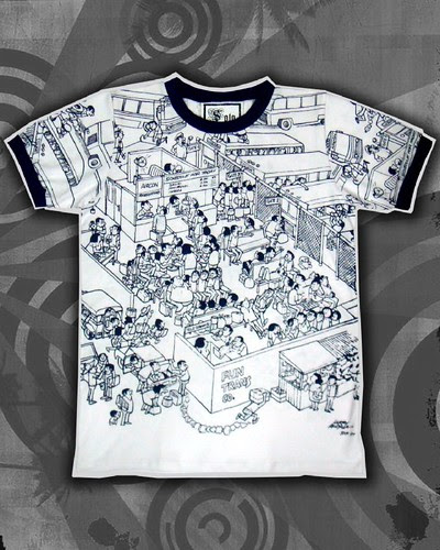 Men's All Over Print Graphic Tee for Him P795