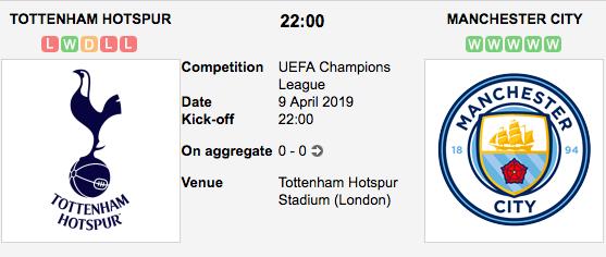 Tottenham Hotspur v. Manchester City