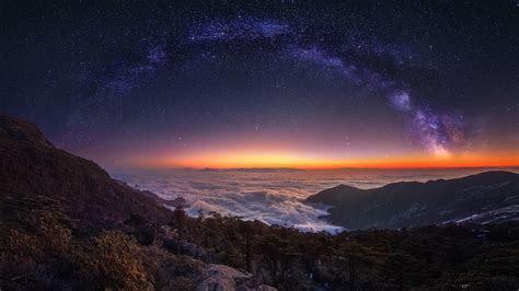 Milky Way Nature Night Wallpaper   Wallpaper Studio 10
