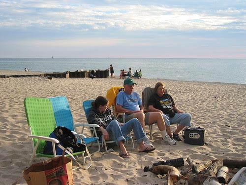 Rebecca, Bob F, and Sue at Point Betsie
