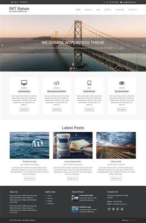 Responsive Free Minimalist WordPress theme for minimal