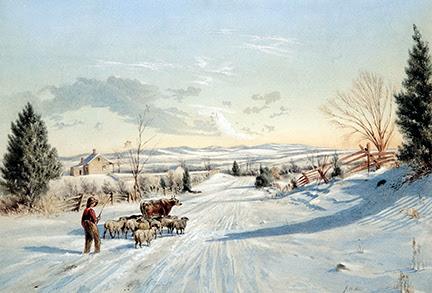 Winter Scene - View Near Clarkstown